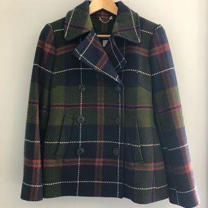 J. Crew plaid coat